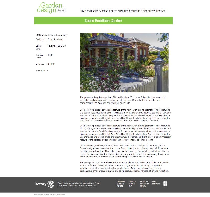 Beddison Garden Designs Garden DesignFest 2016